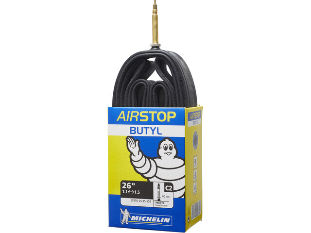 "Michelin C2 Airstop Bike Tube 26"", black"